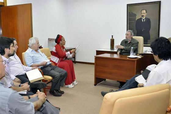 reunión con fidel castro agosto 15 2010
